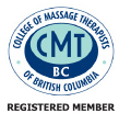 logo College of Massage Therapists of Bristish Columbia - Registered Member